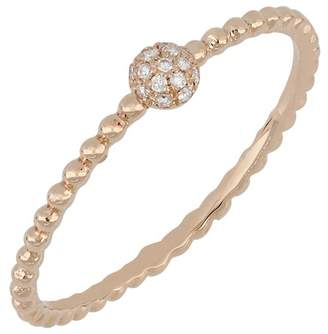 Bony Levy 18K Rose Gold Pave Diamond Stacking Band Ring - 0.04 ctw