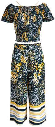 Beautees Big Girls 2-Piece Off-the-Shoulder Top & Pants Set