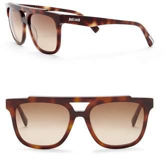 Just Cavalli Square Aviator 56mm Plastic Sunglasses