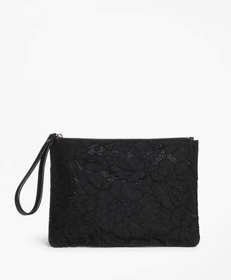Brooks Brothers Floral Lace Clutch