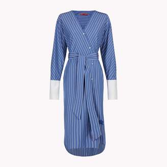 Tommy Hilfiger Striped Wrap Shirt Dress
