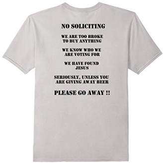 No Soliciting T-Shrit Sign