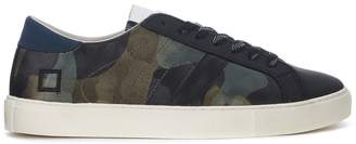 D.A.T.E Newman Camo Army Rubber Covered Leather Sneaker