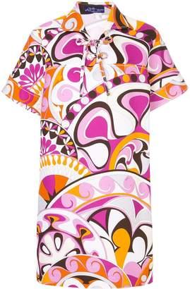Emilio Pucci printed laced collared dress
