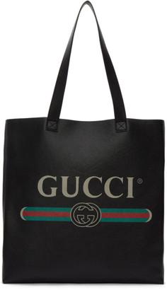 Gucci Black Vintage Logo Tote