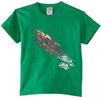 Marvel Boy's Avengers Assemble Iron Man Shooting Burst Short Sleeve T-Shirt,(Manufacturer Size:9-11)