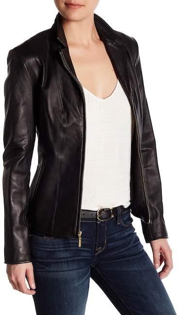 Cole Haan Cole Haan Genuine Lamb Leather Jacket