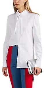 BESFXXK Women's Cutout Cotton Poplin Blouse - White