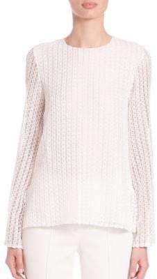 ADAM by Adam Lippes Textured Keyhole Top