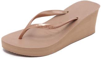 Havaianas High Fashion Wedge Flip Flops $38 thestylecure.com