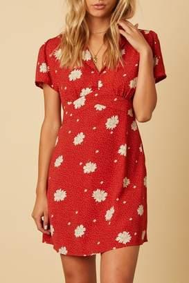 Cotton Candy Floral-Print Mini Dress