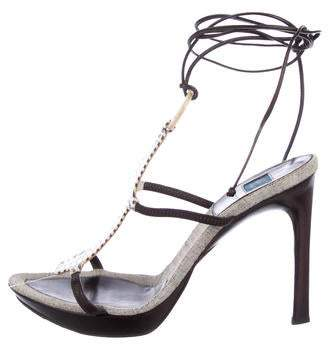 Goffredo Fantini Embellished Wrap-Around Sandals