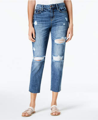 American Rag Juniors' Ripped Cropped Girlfriend Jeans, Created for Macy's