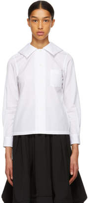 Comme des Garcons White Square Collar Shirt
