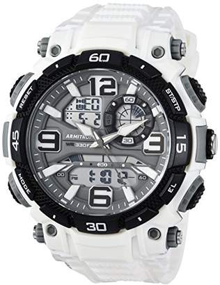 Armitron Sport Men's 20/5270WHT Analog-Digital Chronograph Resin Strap Watch