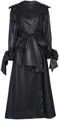 Vika Gazinskaya bow detail cotton trench coat
