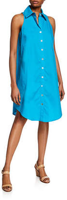 Finley Button-Front & Back Sleeveless Swing Dress