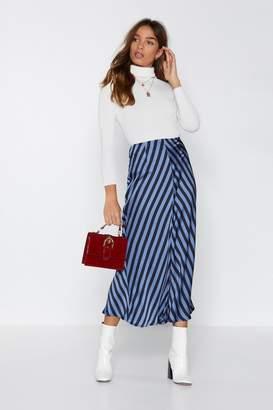 Nasty Gal Mixed Blessings Midi Skirt