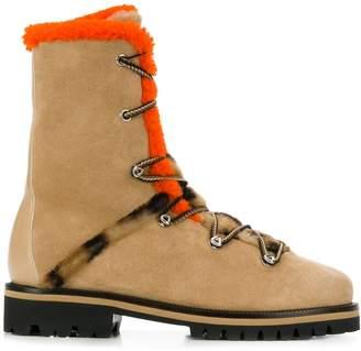 Yves Salomon high-top hiking boots