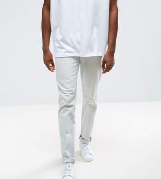 Asos TALL Stretch Slim Jeans In Heavy Bleach Wash