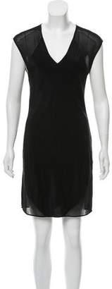 Alexander Wang Mesh-Accented Silk Dress