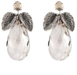 Anton Heunis Elegant Leaf Drop Earrings