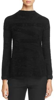 Armani Collezioni Textured Funnel-Neck Sweater