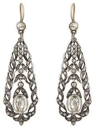 Stephanie Windsor Antiques Women's Crystal-Embellished Drop Earrings