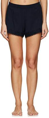 Skin Women's Quientin Lace-Trimmed Pima Cotton Shorts