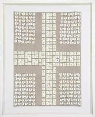 Mother of Pearl Bandhini Cross Fabric Artwork