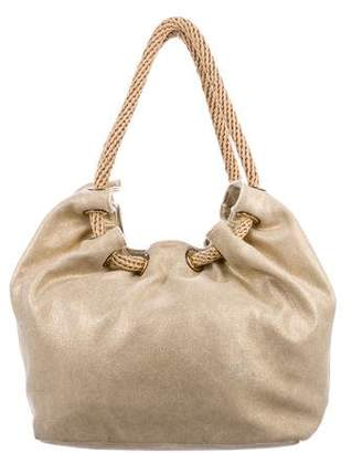 Pre Owned At Therealreal Michael Kors Metallic Canvas Hobo