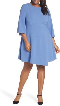 Vince Camuto Crepe A-Line Dress