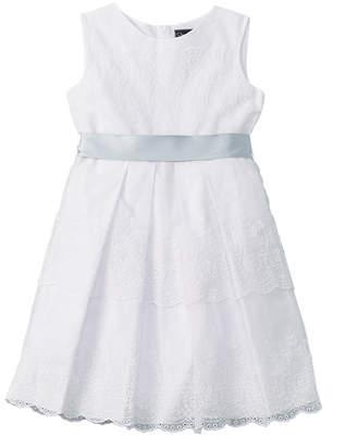 Oscar de la Renta Girls' Lace A-Line Dress