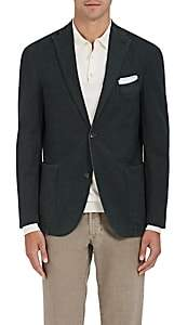 Boglioli Men's K2 Herringbone-Weave Two-Button Sportcoat-Olive
