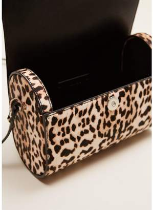 cfb49fd95205 MANGO Leather Cross Body Bag - Animal Print