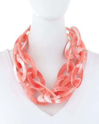 Stella & Ruby Acrylic Link Necklace, Coral