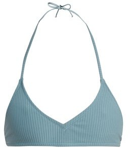 Made by Dawn Shell Ribbed Bikini Top - Womens - Light Blue