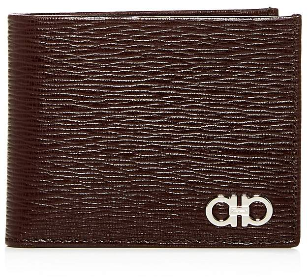 Salvatore Ferragamo Gancini Revival Leather Bi-Fold Wallet