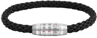 Tateossian Combination Lock Leather Bracelet