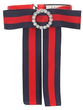 Gucci Striped neck bow