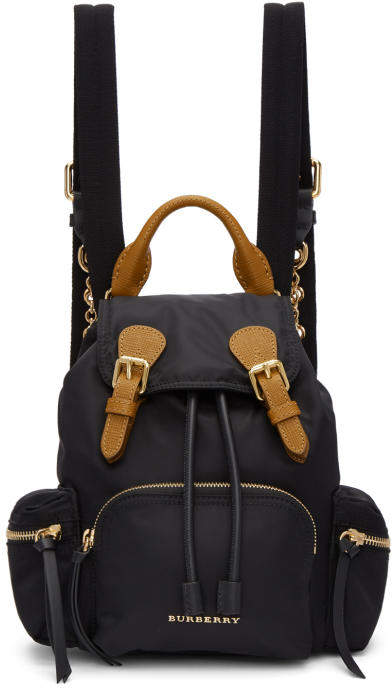 Burberry Black Small Nylon Rucksack