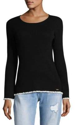 Calvin Klein Ribbed Bell-Sleeve Sweater