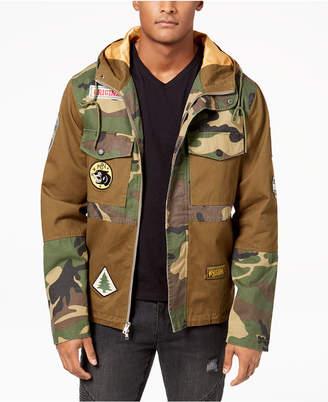 Reason Men's Hooded Camo Navigator Jacket