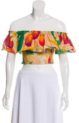 Isolda Cropped Off-The-Shoulder Top