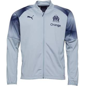 Mens Olympique Marseille Poly Track Jacket Grey