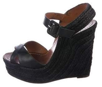 Valentino Platform Wedge Sandals