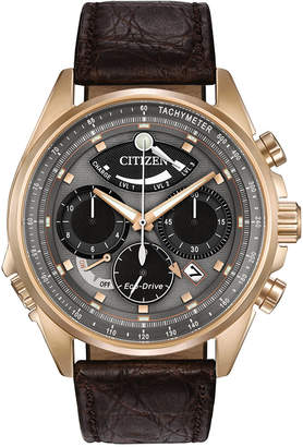 Citizen Men's Chronograph Eco-Drive Calibre 2100 Brown Leather Strap Watch 44mm AV0063-01H, Limited Edition $950 thestylecure.com
