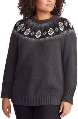 Chaps Plus Size Fairisle Sweater