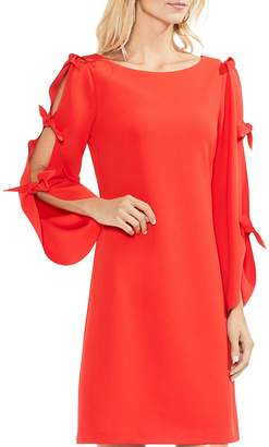 Vince Camuto Split Tie Sleeve Crepe Dress