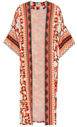 Temperley London Odyssey printed crêpe kimono